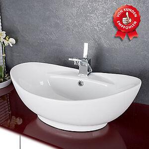 design keramik waschschale aufsatzwaschbecken waschtisch badezimmer waschbecken ebay. Black Bedroom Furniture Sets. Home Design Ideas