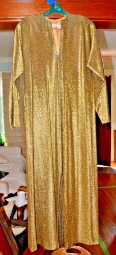 STUNNING 70's Halston IV Dorian Black & Gold Kafta