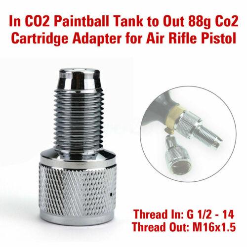 Paintball CO2 serbatoio per fuori 88g Adattatore CARTUCCIA A PERDERE Aria Rifle Pistola L