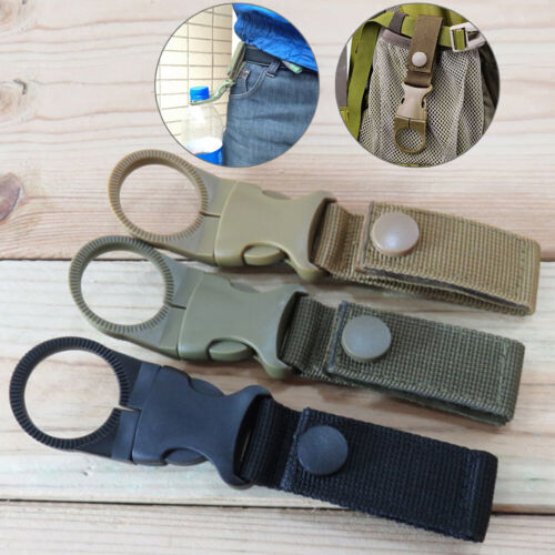 2*Outdoor Durable Water Bottle Holder Carabiner Clip Camping Hiking Buckle DP/_ji