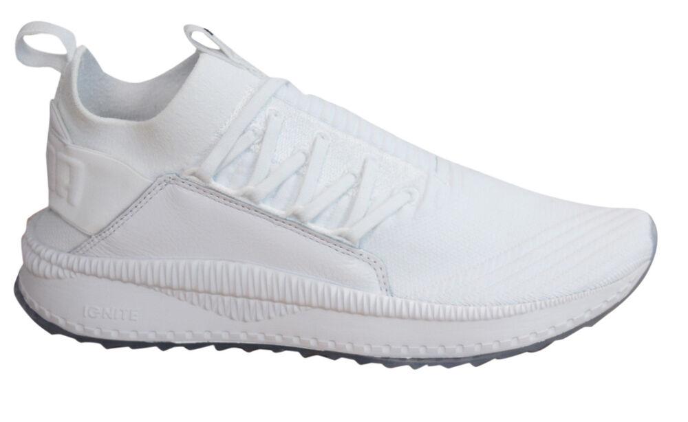 PUMA TSUGI Jun lacet textile blanc chaussette compatible avec