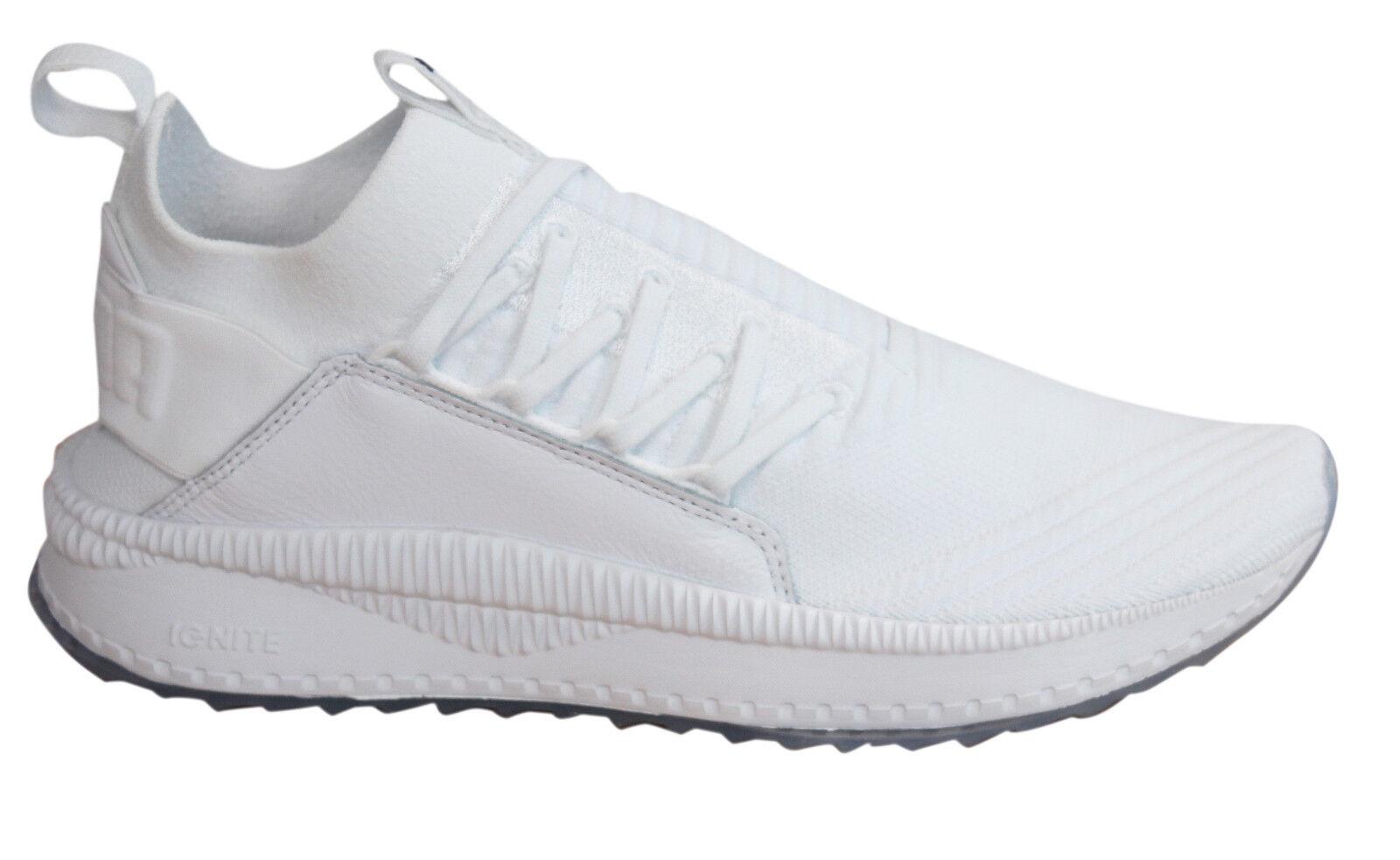 Puma TSUGI Jun Lace Up White Textile Sock Fit Mens Trainers Shoes 365489 02 U55