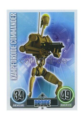 2010 Force coronó 59-kampfdroide comandante droide los separatistas serie 1