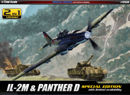 1//72 IL-2M /& PANTHER D SPECIAL EDITION #12538 ACADEMY MODEL