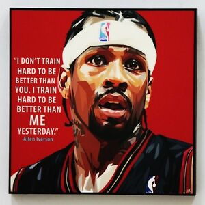 Allen-Iverson-canvas-quotes-wall-decals-photo-painting-framed-pop-art-poster