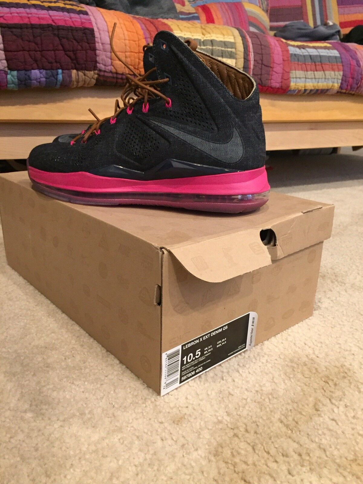 NIKE LEBRON X 10 EXT DENIM DS SIZE 10.5