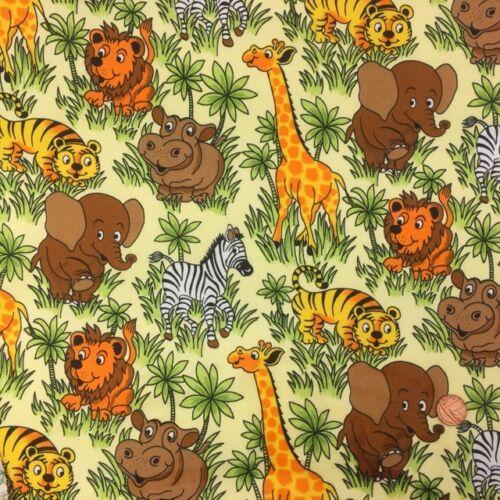 Jungle Children/'s themed fabric 100/% cotton 112cm wide Per half metre In the
