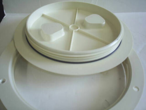 "T-H Marine Sure Seal Deck Plate 8/""  Off White  Twist On"