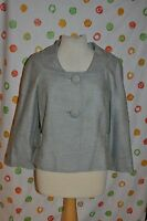 Eccoci Anne Womens Size 14 Blue Textured Lined Short Jacket $$$