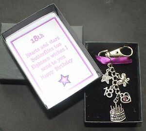 Image Is Loading 18th 16th 21st Birthday Gift Key Ring Purple