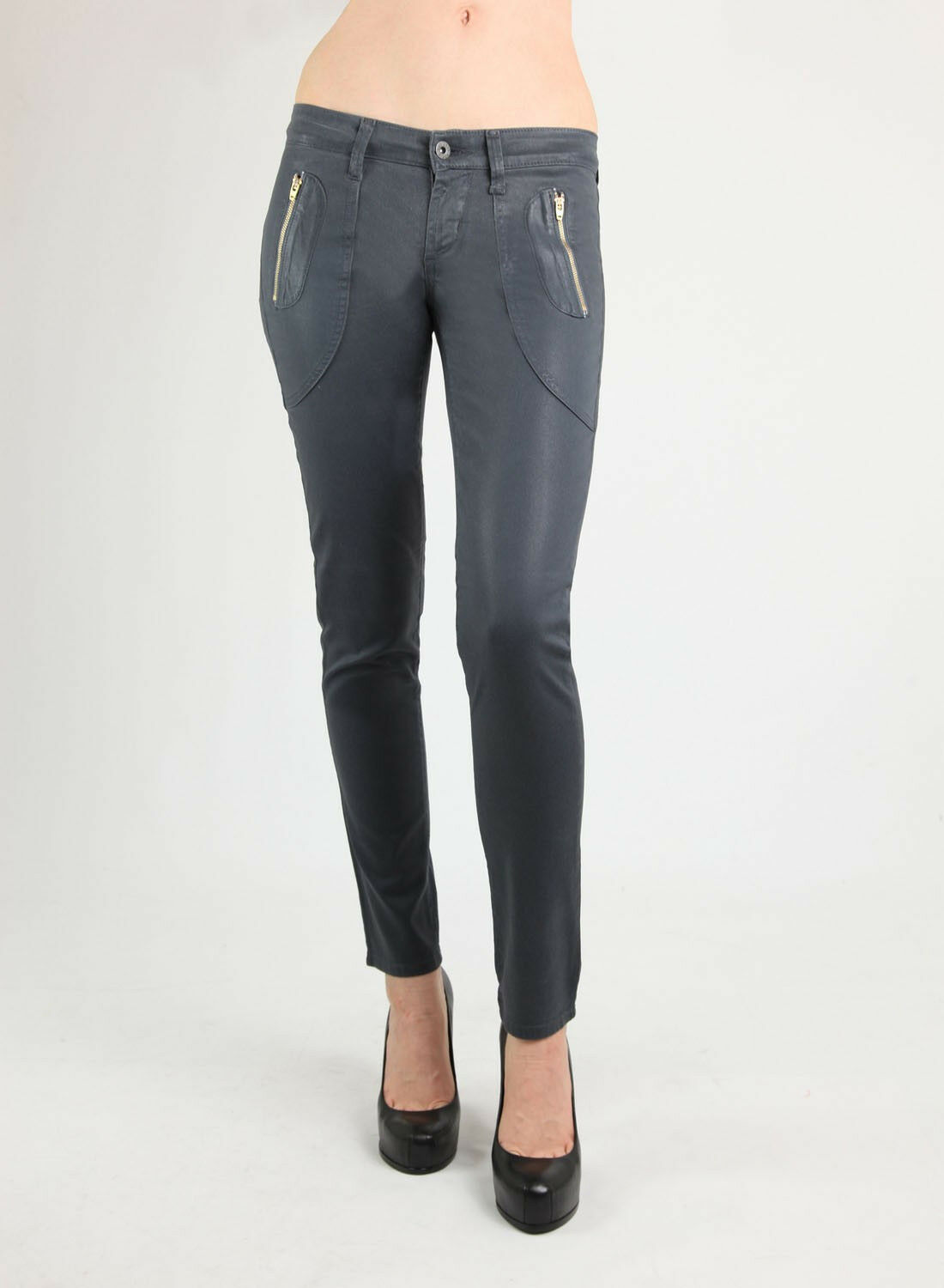 New James Jeans  260 Polo Zip Skinny Rich VASSAR COATED TRIXIE JEAN NWT SIZE 29