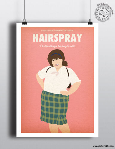 HAIRSPRAY Minimalist Musical Poster Minimal Print by Posteritty Art John Waters