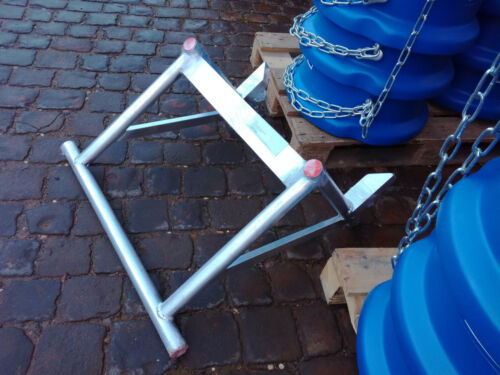 ESDA-Grundrahmen//Gerüstbefestigung aus Alu für Schuttrutsche Bauschuttrutsche $