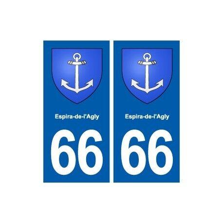 66 Espira-de-l'Agly blason autocollant plaque stickers ville droits