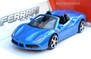 FERRARI-488-SPIDER-1-43-Modello-Pressofuso-Modelli-Auto-DIE-CAST-GIOCATTOLO-IN-MINIATURA-Blu-Rosso
