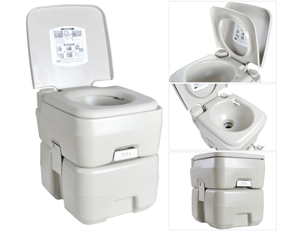 5 Gal 20l Portable Flushing Toilet Outdoor Camping