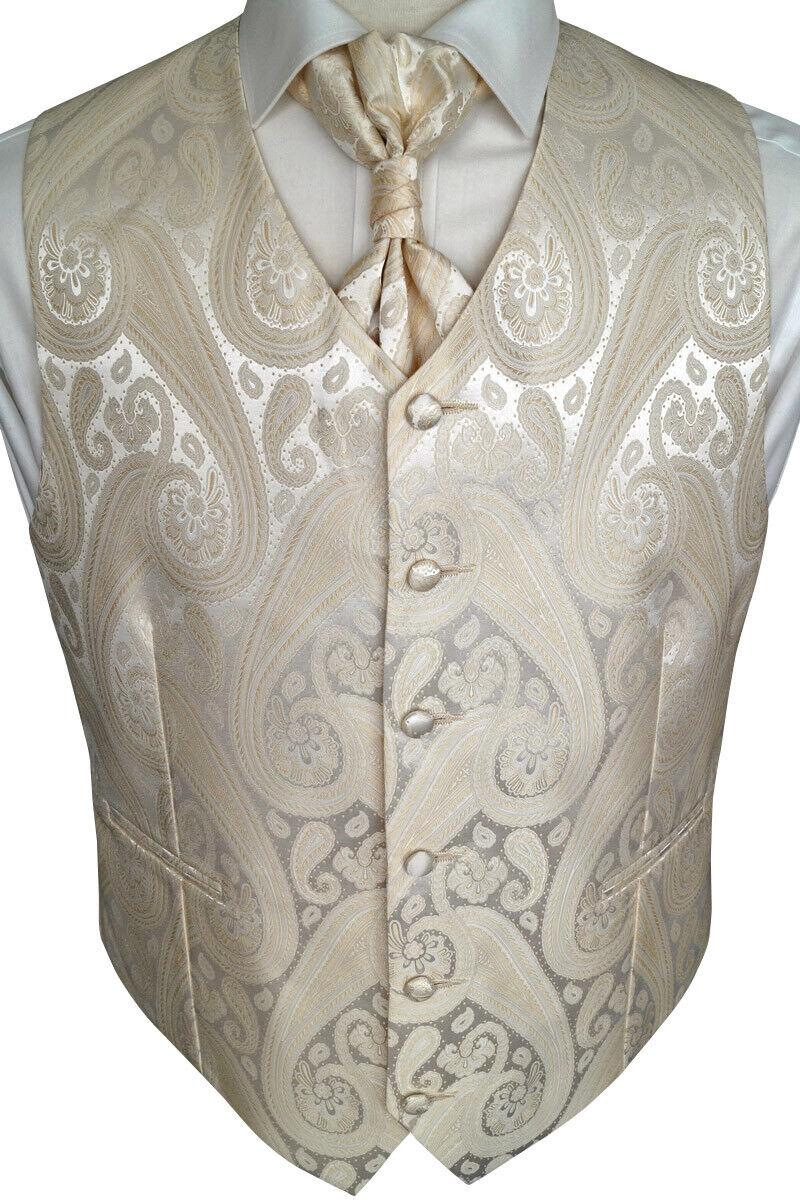 Wedding Waistcoat With Plastron, Handkerchief And Tie 4-tlg. Model No. 21.1