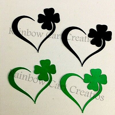 12-16 Layered Heart Shamrock Clover Die Cut Embellishment Scrapbooking Card Topr
