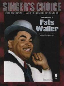 Infatigable Chante Les Chansons De Fats Waller Music Book & Backing Tracks Pour Chanteurs-afficher Le Titre D'origine