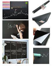"BLACKBOARD STICKER 17""x78"" +5 Chalks Vinyl Peel + Stick Self Adhesive Chalkboard"