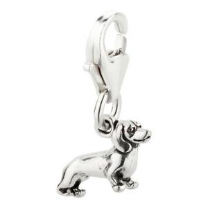 Charm-Anhaenger-Hund-Dackel-1-mit-Karabinerverschluss-aus-925-Sterling-Silber