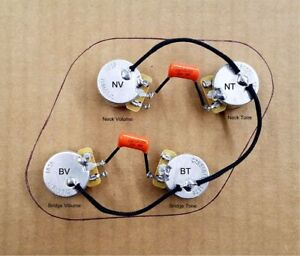 Premium Gibson Les Paul Wiring Harness - Custom CTS 550k Pots 9% tolerance  | eBayeBay