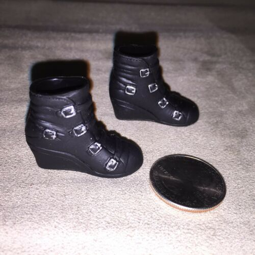 KUMIK 1//6 Black Widow Catwoman Wedge Boots For Hot Toys Phicen U.S.A SELLER