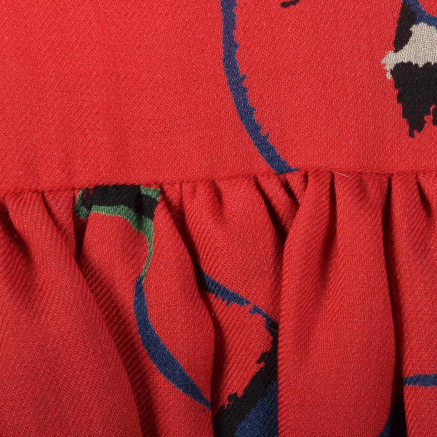 S 1980s Pauline Trigere Long Sleeve Red Dress Dro… - image 7