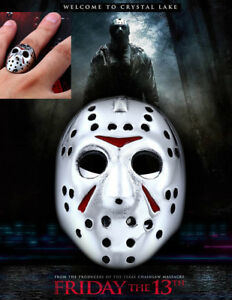 Jason Voorhees Hockey Mask Rock Men's Ring Friday 13th ...