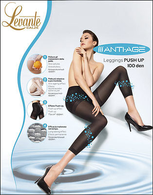 Levante Collant Donna Anti Age PUSH UP Calze 100 DEN Migliora la silhouette