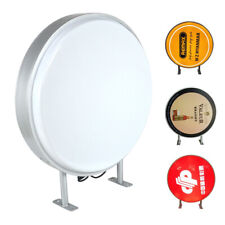 Led 24 Round Double Sided Outdoor Projecting Light Box Sign Waterproof