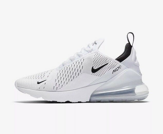 separation shoes e0f0b 418a0 Nike Air Max 270 270 270 Homme Femme s Chaussures De Course Taille 10 UK  Blanc Authentique 2ca913