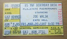 1987 JOE WALSH TAMPA CONCERT TICKET STUB THE EAGLES HOTEL CALIFORNIA 3/20/87