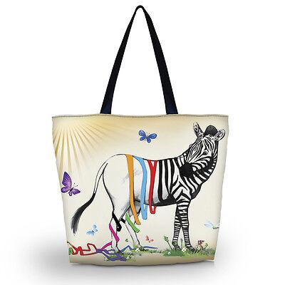 Zebra Ladies Womens Shoulder Shopping Tote School Sport Bag Handbag Beach Bag