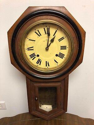 Antique School Clock Ebay
