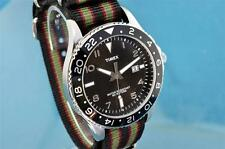 CLASSIC TIMEX MENS SUBMARINER DIVERS STYLE CALENDAR WATCH W/ G-1O MILITARY STRAP