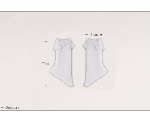 White Dollmore 1//6 BJD YOSD USD  Dear Doll Size Ponyo Knee Socks