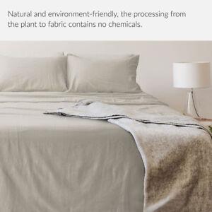 Image Is Loading 55 Linen 45 Cotton Sheet Set Soft Breathable