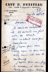 NANTES-44-VINS-CIDRES-LIQUEURS-034-CAVE-B-PETITEAU-034-en-1949