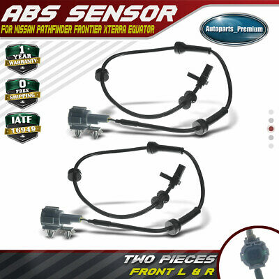 2x ABS Speed Sensor Left Right for 2005-2014 Nissan Pathfinder Frontier Xterra