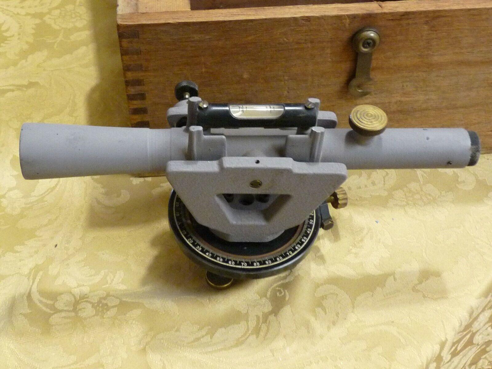 Vintage Craftsman Transit w/Wood Box Surveying Equipment