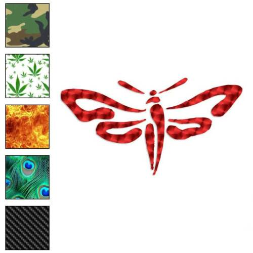 Size #806 Sphinx Moth Flying Decal Sticker Choose Pattern