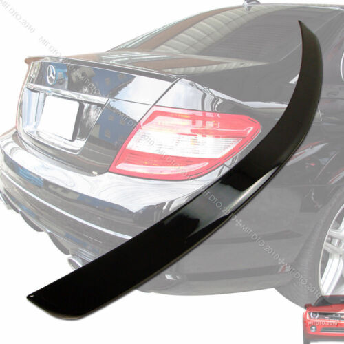 2008-2013 Painted Mercedes BENZ W204 4DR Boot Trunk Spoiler Rear Wing ABS