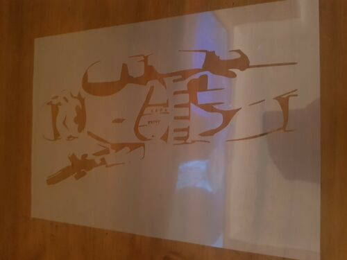 Star Wars Stormtrooper Stencil Re-usable - Crafting - Airbrush - Cake Decoration