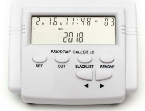 Adjustable Mobile Tele LCD Display Screen Plastic FSK DTMF Caller ID w// Calendar