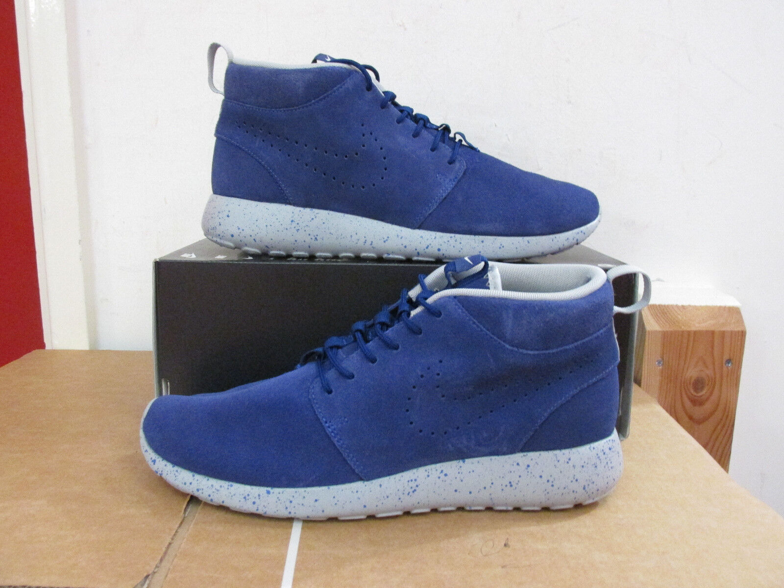 Nike ID Mens Rosherun Mid Trainers 653665 Sneakers 992 uk 8 us 9 eu 42.5