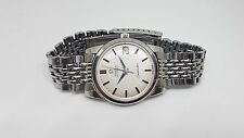 USED 1968 OMEGA SEAMASTER SILVER DIAL AUTO CAL:565 DATE RICE GRAIN STRAP WATCH