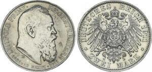 2 Mark 1911 D Luitpold Prinzregent von Bayern zum 90. Geburtstag vz 61833
