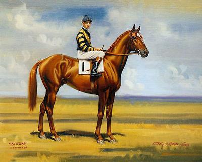 Quality Art  Canvas Print Oil Painting  Race Horse Jockey Clarence Kummer 16x20