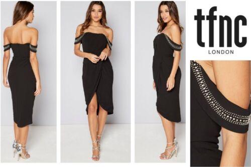 Women/'s Dress By TFNC Embellished Julien Dress Sizes 12-14